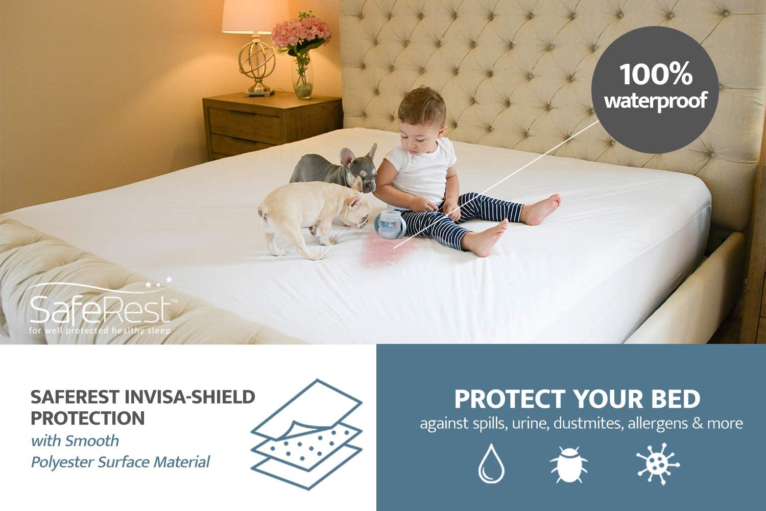 Twin Size Hospital Grade Water Proof Mattress Cover can use cleaners SEE VIDEO