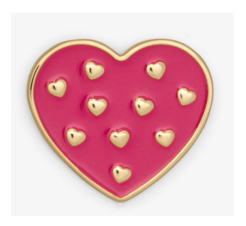 MICHAEL KORS Pink Heart Pin