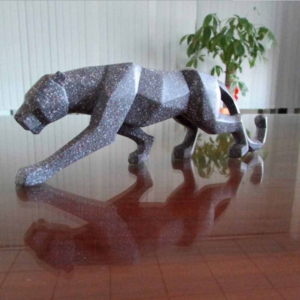 L YANJHJY G/éom/étrique Sculpture L/éopard dor Statue Moderne R/ésum/é L/éopard R/ésine Mod/èle Artisanat Ornements Home Office Bar D/écoration Cadeau mod/èle 1
