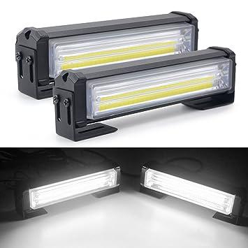 "Barra de luz LED estroboscópica, Mesllin 6 ""Bombillas de advertencia de emergencia para"