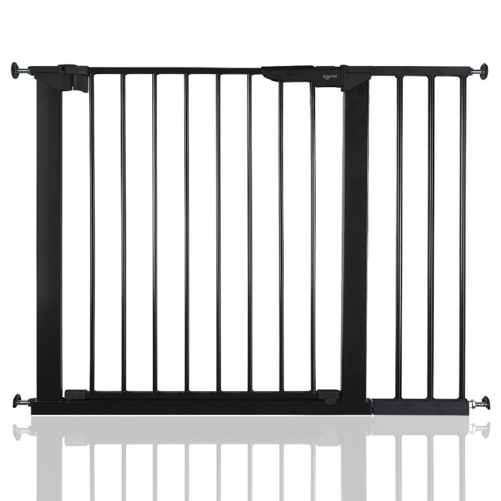 BabyDan Premier True Pressure Fit Baby Safety Stair Gate Black All Widths (112cm-119.3cm)