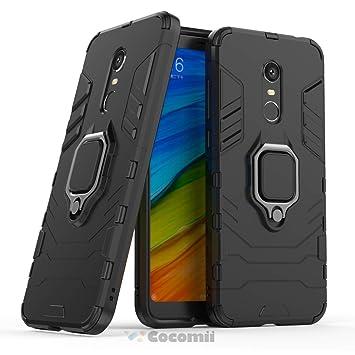 Cocomii Black Panther Armor Xiaomi Redmi Note 5/Redmi 5 Plus Funda [Robusto] Anillo Soporte [Funciona con El Montaje De Coche Magnético] Case Carcasa ...