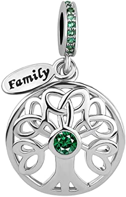Cherris Key to My Heart Mom Girl Mother Daughter Charms Beads for Snake Chain Bracelets