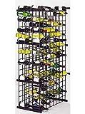 Black Metal Lattice Wine Rack for 304 Bottles