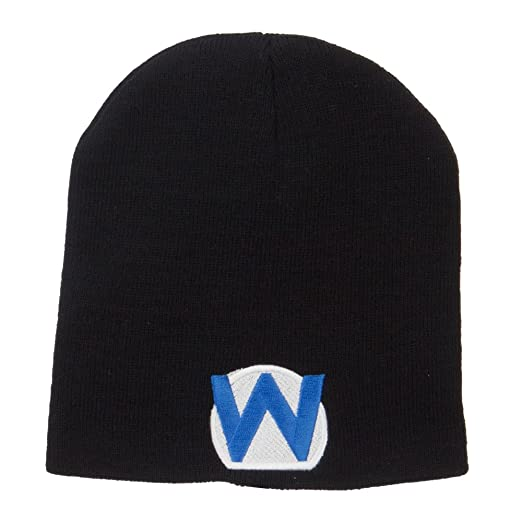 Amazon.com  E4hats Circle Wario Embroidered Short Beanie - Black ... 8ef7bf5f2990