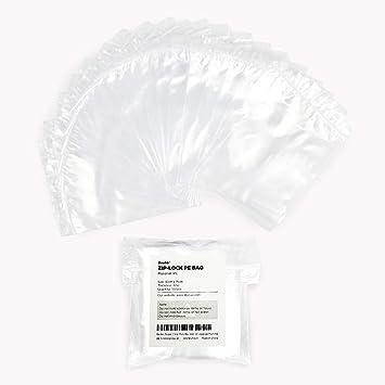 Becko - 100 bolsas de plástico transparente con cierre de ...
