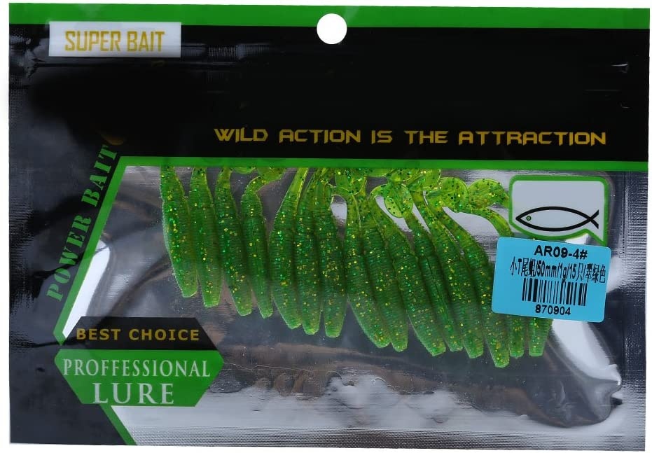 VGEBY1 Soft Fishing Lures,10 Colors 15 Pcs//Lot Fishing Lure Bait Life-like Fish Lures for Fishing Accessory