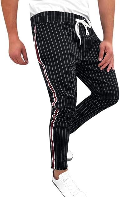 Oliviavan, Pantalones Largos para Hombre Moda Pantalones Slim Fit A Cuadros Pantalones Deportivos de Bolsillo Pantalón para Hombre Casual: Amazon.es: Ropa y accesorios