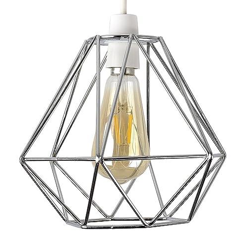 DIAMOND WIRE PENDANT CAGE LAMP LIGHT SHADE | Pure Gold: Amazon.co.uk ...