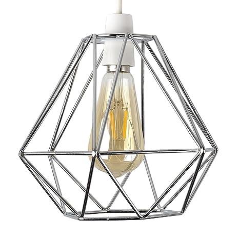 MiniSun - Pantalla vintage para lámpara de techo, de estilo cesta ...