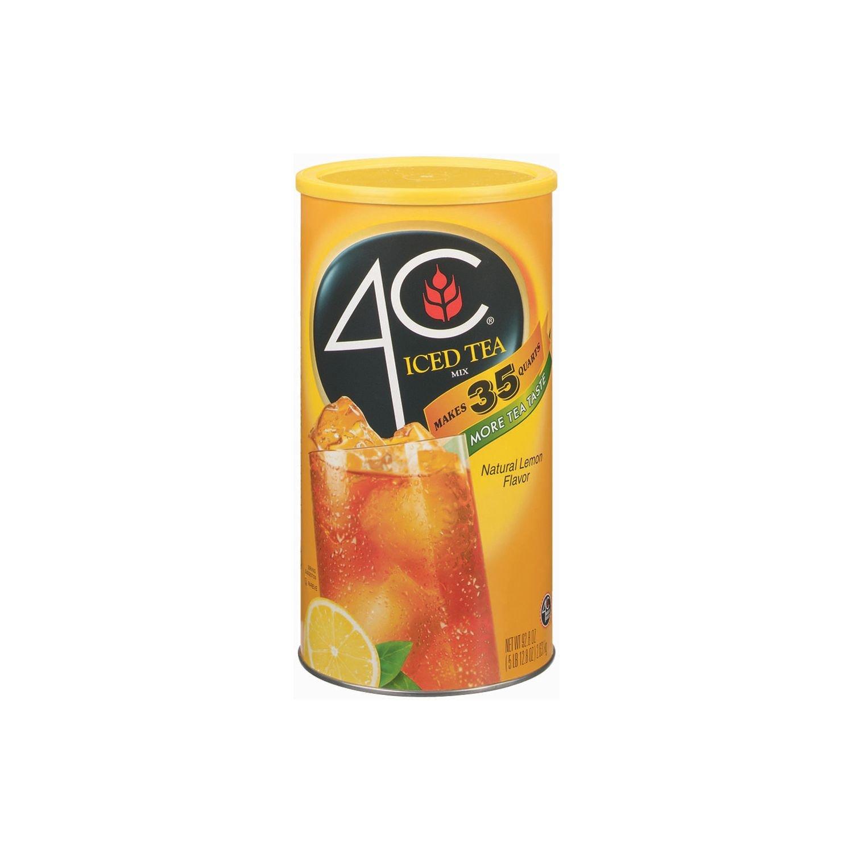 4C Lemon Iced Tea Mix - 92.8-oz. canister (pack of 6)