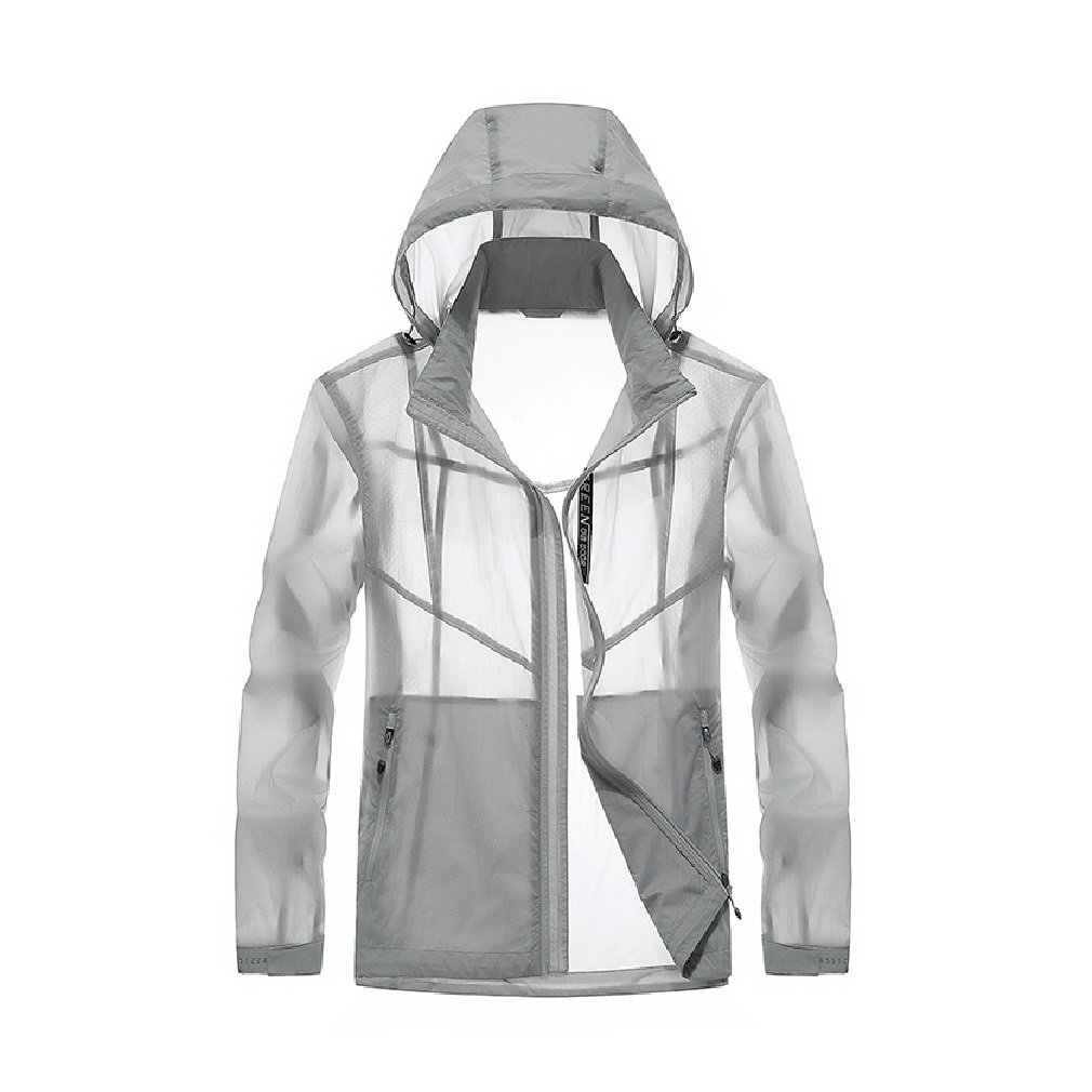 Summer Men's Sun Protection Fast Drying Thin Section Breathable Comfortable Windbreaker Loose Lightweight Tops Coats (Color : 1, Size : L)