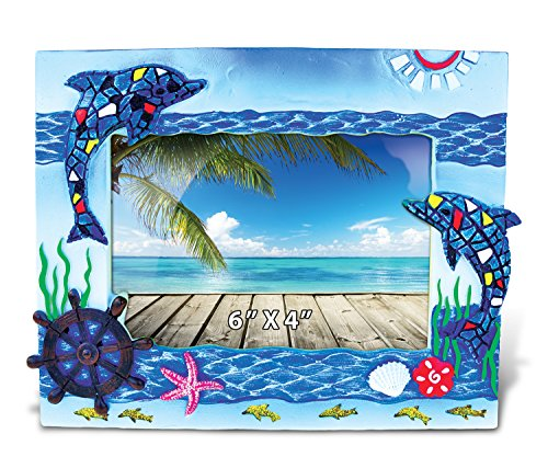Puzzled Dolphins Mosaic Photo Frame 4
