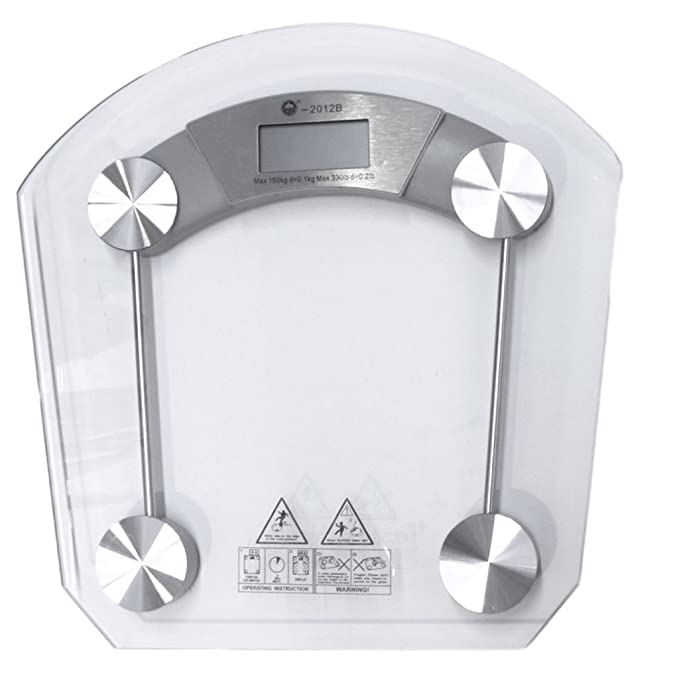 Health Scale Cristal semicircular 2012B Báscula - Báscula digital de cristal cuarto de baño (: Amazon.es: Ropa y accesorios