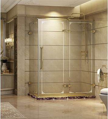 Cabina de ducha con puerta corrediza rectangular, de vidrio ...