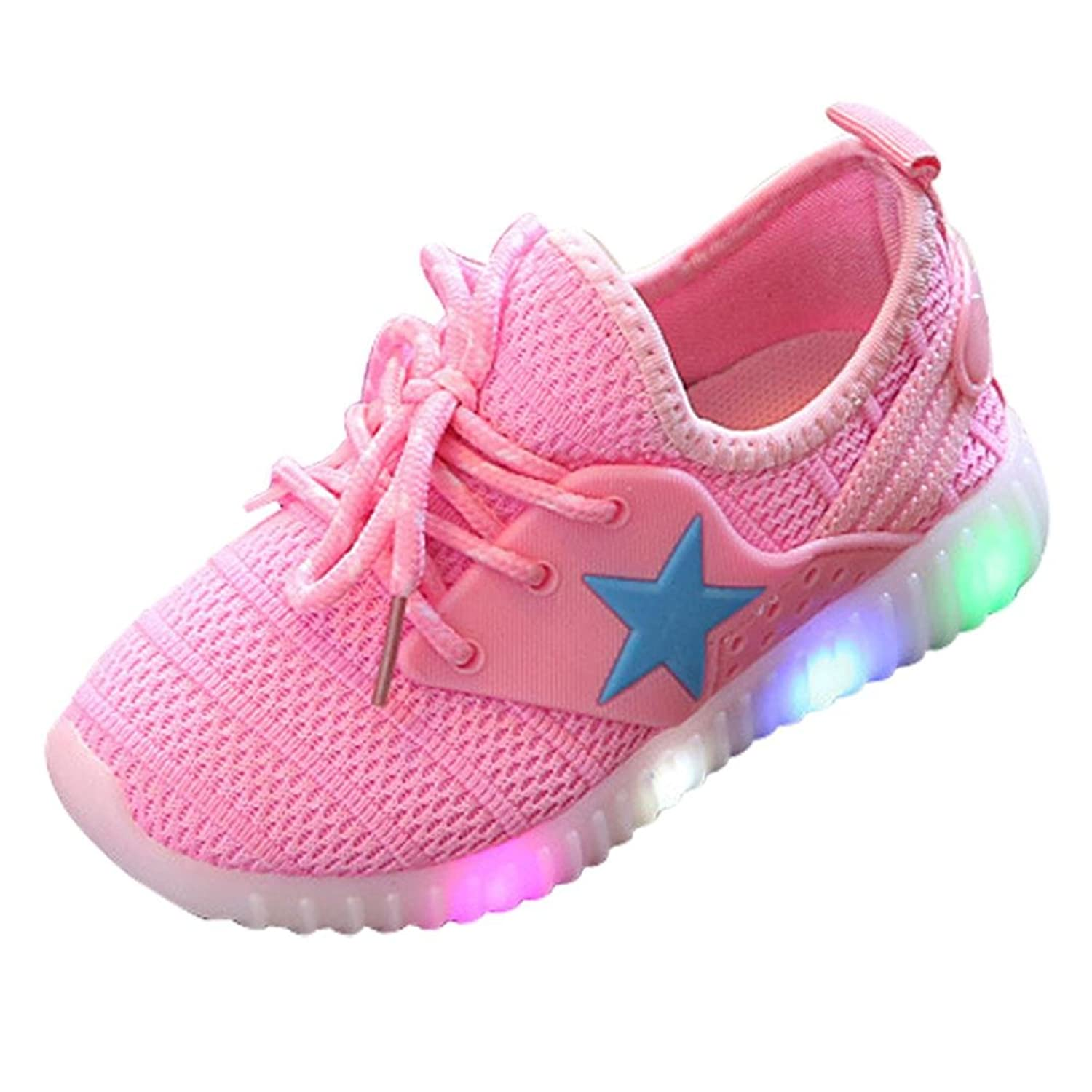 Amiley Toddler Baby Sneakers Star Luminous Child Casual Colorful Light Outdoor Shoes