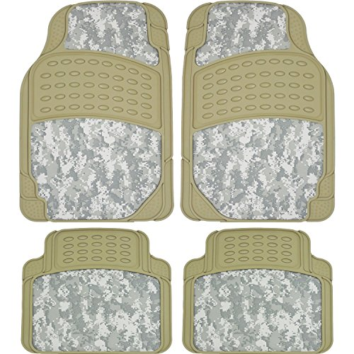 U.A.A. Inc. ® 4pc Digital Hunting Camo All weather Rubber Camouflage Floor Mats Universal (beige) (Digital Camouflage Floor Mats compare prices)