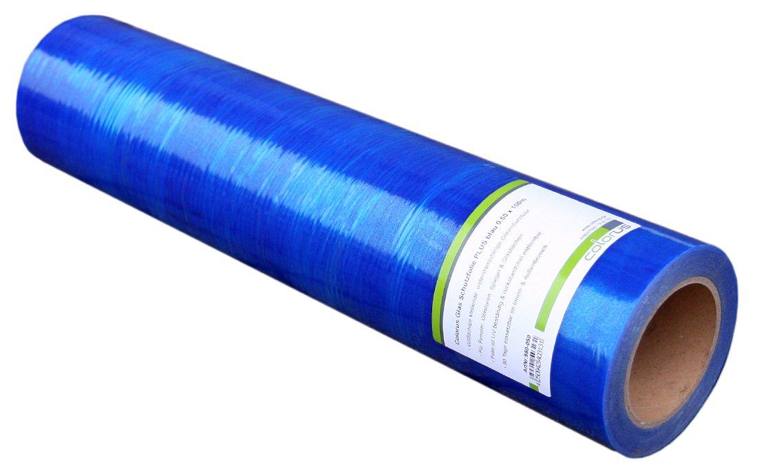 Colorus Premium Glas Schutzfolie blau selbstklebend 50cm x100 m ...