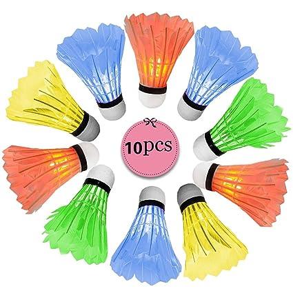 New Dark Night Colorful LED Badminton Feather Shuttlecock Lighting Sports