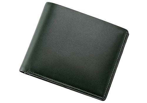 e0a81eea2f30 Amazon   【キプリス】二つ折り財布(カード札入)□ボックスカーフ ~ポトフィール~ 4412(グリーン)   Cypris(キプリス)    財布