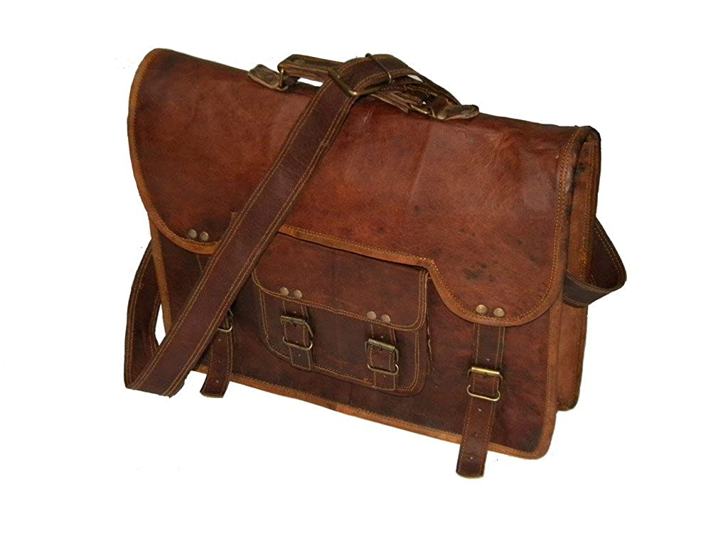 Novdurga handicraft Adult Leather Messenger Real Laptop Satchel Bag Briefcase