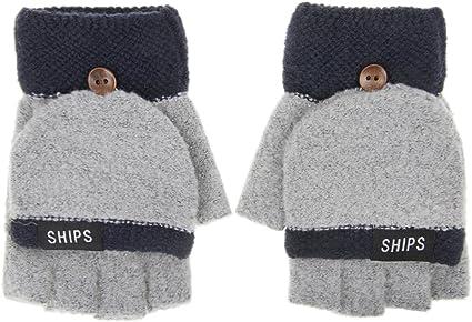 Mittens Womens Thermal Winter Cute Fingerless Converter Gloves HEAT HOLDERS