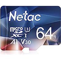 Netac Tarjeta de Memoria de 64GB, Tarjeta Memoria microSDXC(A1, U3, C10, V30, 4K, 667X) UHS-I Velocidad de Lectura hasta…