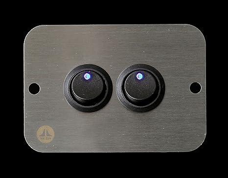 Lek Tek: Wohnmobil Boot 12 V Blau LED Doppel Schalter Panel: Amazon ...