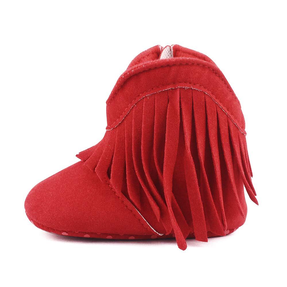 Estamico Baby Girls Cowboy Tassel Boots