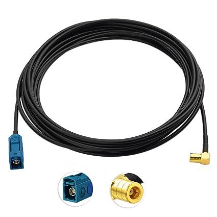 Winkel Antennentechnik Bad Blankenburg 2457.01 Verl/ängerungskabel DAB, 5m, RG 174, FAKRA f f -G-auf-SMB
