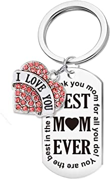 Best Mom Ever Keychain Mothers Day Gift
