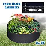 BenefitUSA Fabric Raised Planting Bed Garden Grow Bags 12 inches Tall (Dia 50″) For Sale