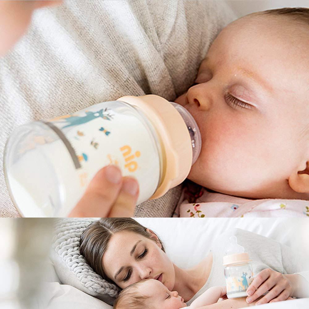 Flaschen ab Geburt Sterilisator NIP/® Girls All-in One Premium Mega Set mit Babyflaschen aus GLAS Dampfgarer Flaschen-und Babykostw/ärmer Milchportionierer