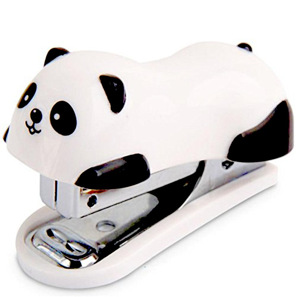 Drawihi Paper Sewer Office metal Paper Book mini cucitrice cute panda look ordine 12/pz cartine