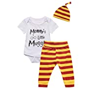 3Pcs Outfit Baby Boys Girls Mommy Little Pant Clothing Set (3-6 Months)