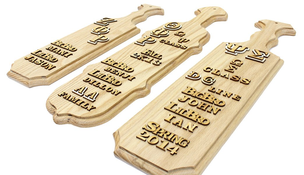 (Official) Sorority/Fraternity 48'' Greek Square Paddle