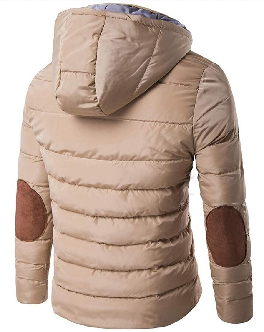 Keaac Men Packable Hooded Down Puffer Jacket Quilted Windproof Coat