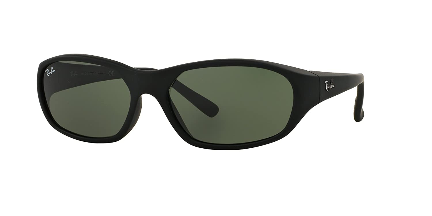 84f8c0c0657465 Amazon.com  New Ray Ban Daddy-O RB2016 W2578 Black  Green Classic 59mm  Sunglasses  Clothing