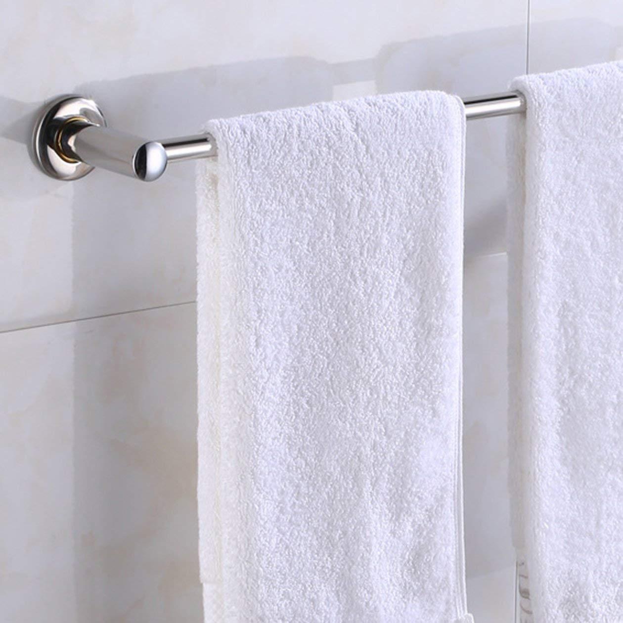Multifonctionnel en acier inoxydable porte-serviettes antirouille Toilette Salle de bains Salle de bains Stockage Porte-Rack M/énage Tige Barre Suspendue couleur: Argent