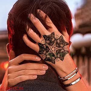 Handaxian 3pcsWaterproof Tatuaje Pegatina Beso Pareja Muerte Tatto Flash Brazo Arte Mujer Tatuaje Masculino 3pcs-1: Amazon.es: Hogar
