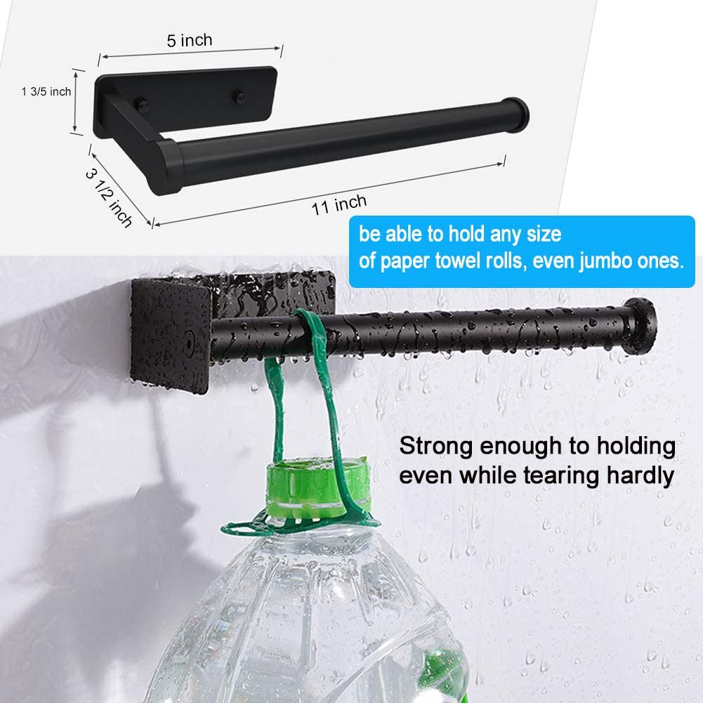 DUU Paper Towel Holder Perfect Tear Wall Mount Paper Towel Stand Install Vertically or Horizontally 2 Pack