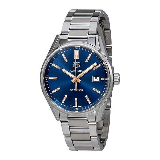 TAG Heuer Reloj de hombre cuarzo suizo 39mm correa de acero WAR1112.BA0601: Amazon.es: Relojes