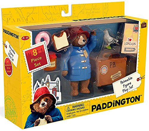 (Paddington Bear Teddy Bear Paddington Movie Toys & Suitcase 8 Pc)