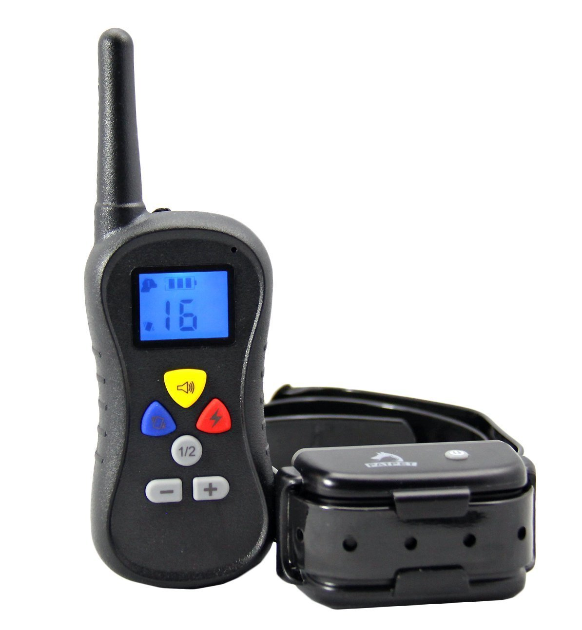 TINDERALA 438 yd.(400m) Training Collar with Remote Control 16 levels Dog with Safe Beep, Vibration function, Rechargeable dog training collar, Rechargeable Safety Shock Electric Collar for Dogs