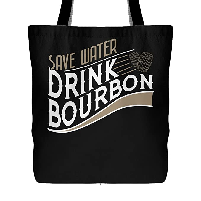 627614911a Amazon.com  Save Water Drink Bourbon - Funny Drinking Quote Canvas Tote Bag   Clothing