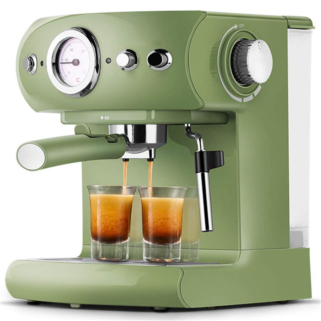 Coffee Machine Home Semi Automatic Commercial Steam Type Milk Foam,Celadon Green