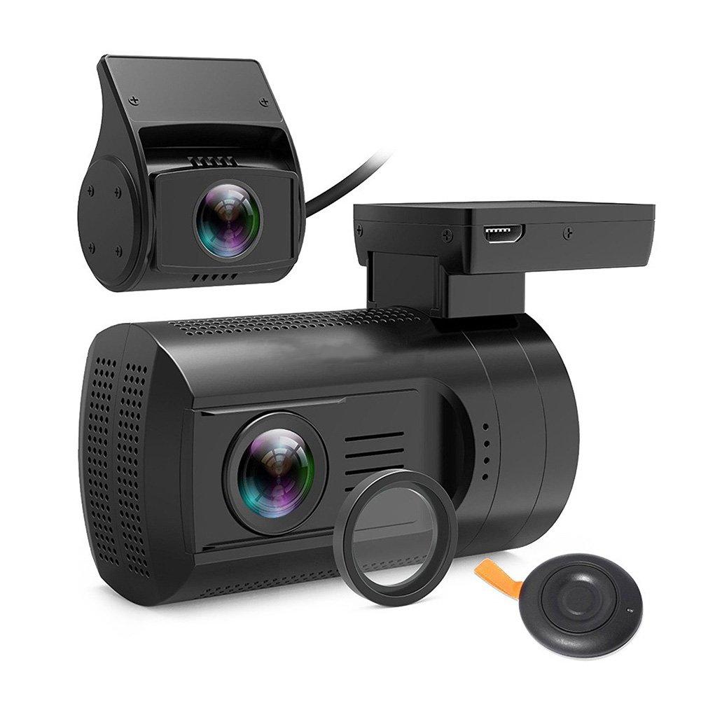 ドライブレコーダー ミニ HD 1080P 車 前後デュアルレンズ ダッシュカム GPS DVR カメラ レコーダー 運転 B07DQHQ97Q