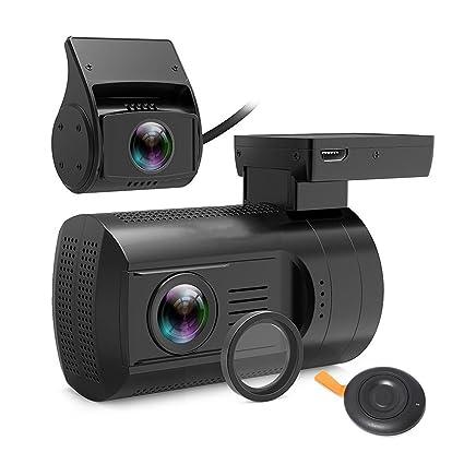 Studyset Mini HD 1080P cámara de salpicadero de Coche GPS DVR cámara de Doble Lente grabadora