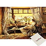 Chamberart Spaniel, Twin Brothers - 150 Piece Jigsaw Puzzle [Pouch Included]