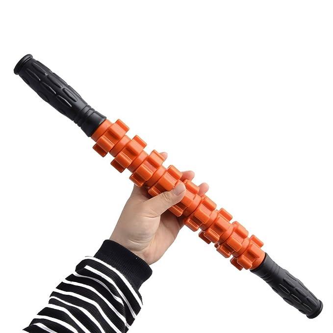 Amazon.com : eDealMax 9 Rueda hogar de materiales plásticos rodillo de diseño relajante Muscular, masaje del Cuerpo de palo de Naranja : Sports & Outdoors